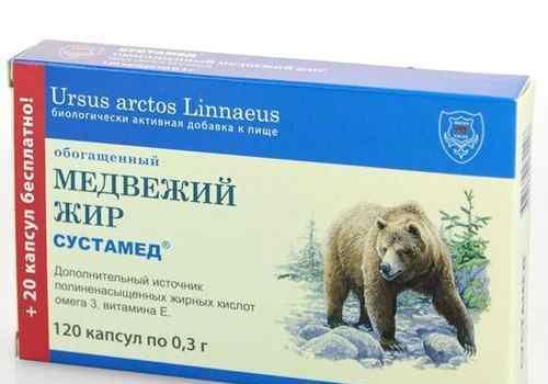 Медвежий жир в капсулах сустамед